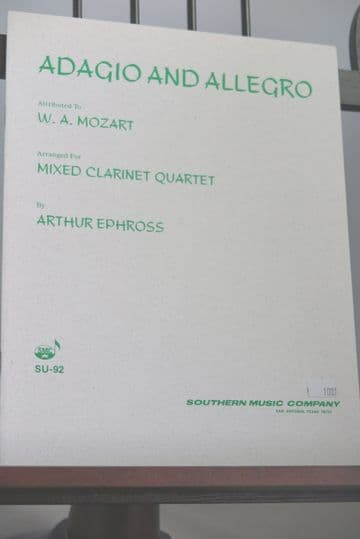 Mozart W A (attrib) - Adagio & Allegro for Mixed Clarinet Quartet arr Ephross A